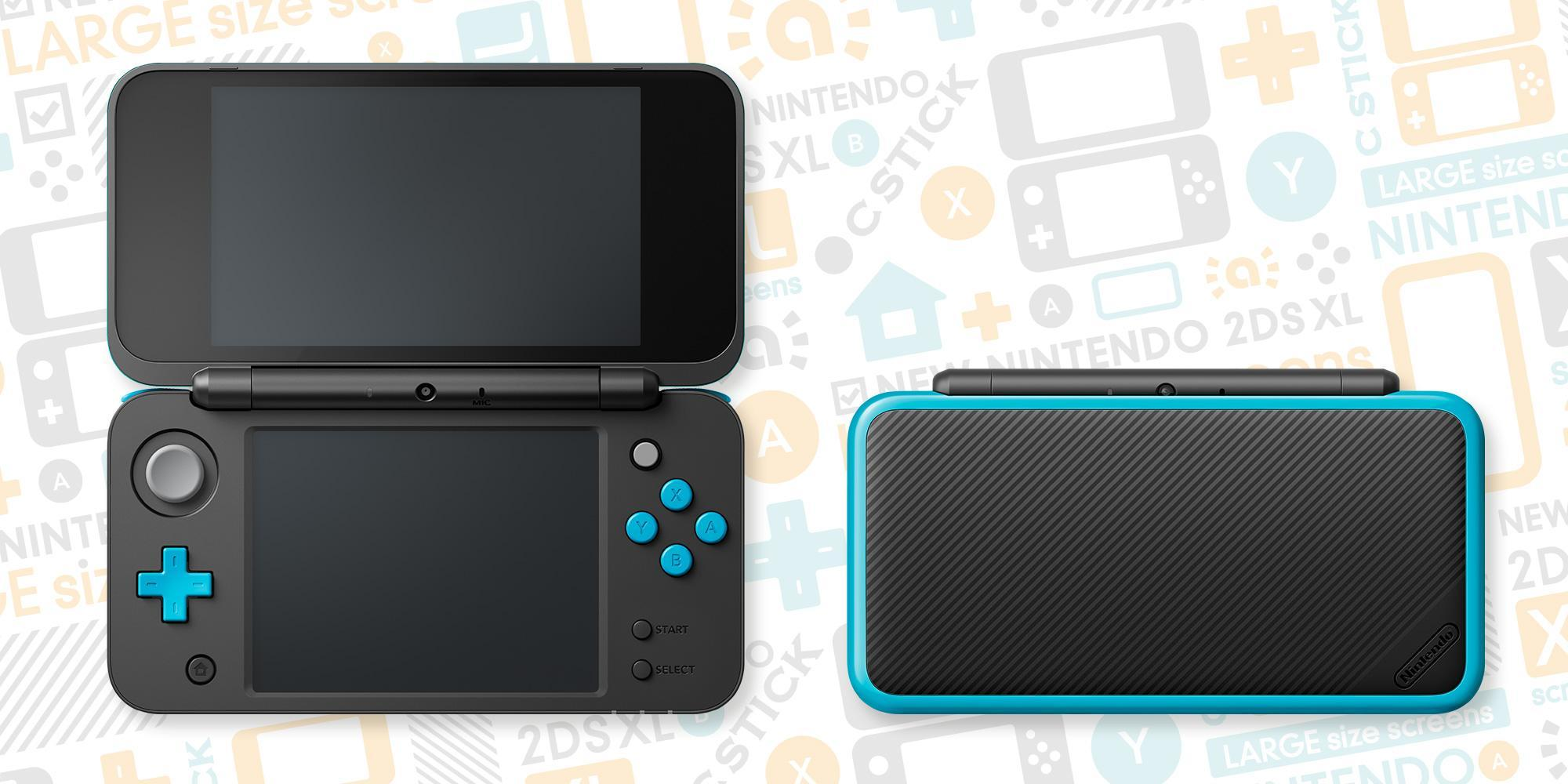New Nintendo 2DS XL Black + Turqouise