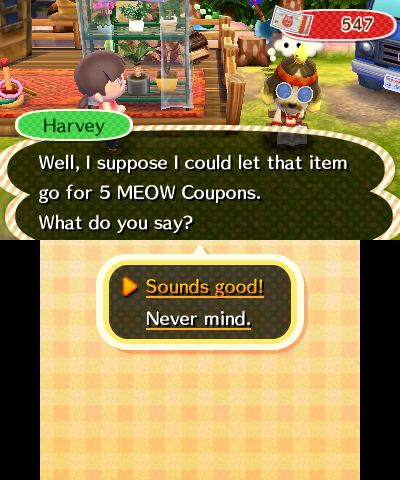 Animal crossing new leaf meow coupons